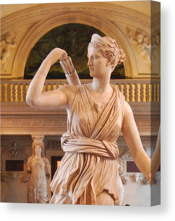 Athena Canvas Print featuring the digital art Athena Statue by Nancy Bradley