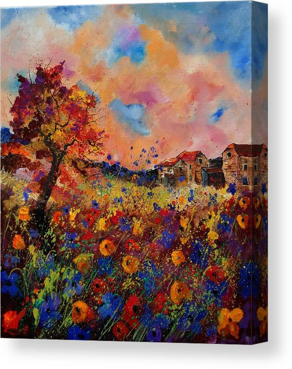 Poppies Canvas Print featuring the painting Autumn Colors by Pol Ledent