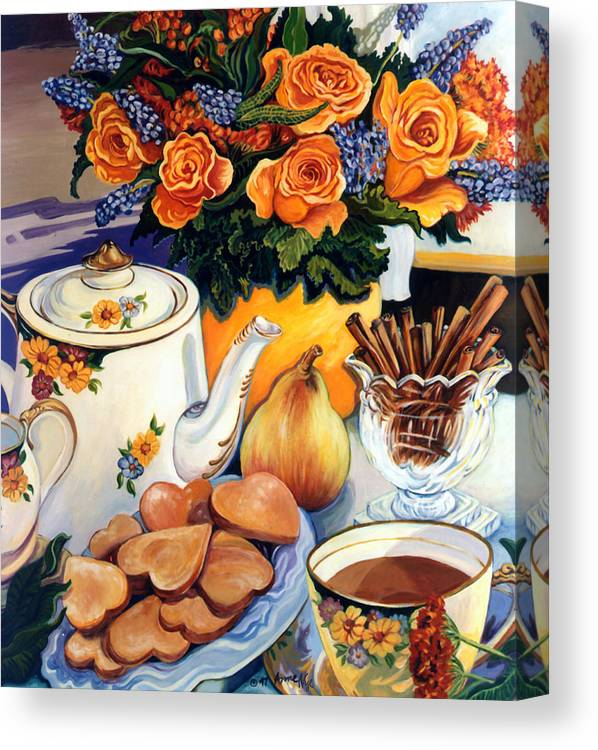 Tea Time Canvas Print featuring the painting Chelsea Morning by Anne Nye