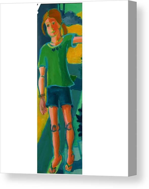 Portrait Canvas Print featuring the painting Gabrielle by Debra Bretton Robinson