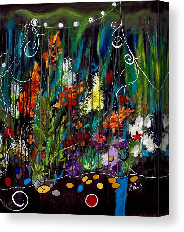Abstract Canvas Print featuring the painting Garden Of Wishes by Ruth Palmer
