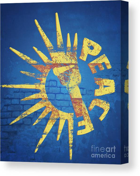 Peace Canvas Print featuring the digital art Moar Peace by Laura Brightwood