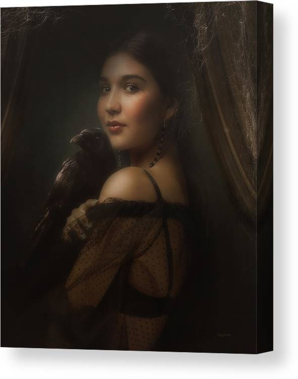 Woman Canvas Print featuring the photograph Mysterious Eye II by Cindy Grundsten