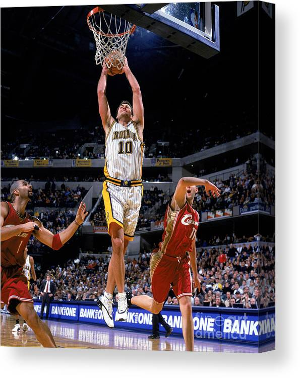 Nba Pro Basketball Canvas Print featuring the photograph Cavaliers V Pacers by Bill Baptist