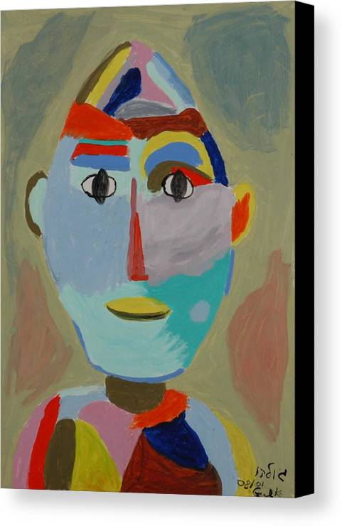 Caricaure Canvas Print featuring the painting Face by Harris Gulko
