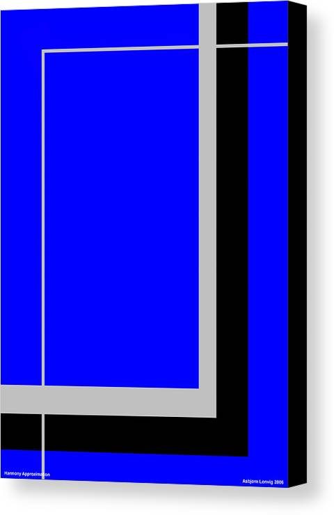 Harmony Approximation Canvas Print featuring the digital art Harmony Approximation by Asbjorn Lonvig