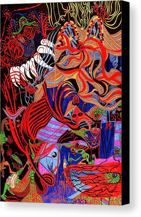 Abstract Canvas Print featuring the print Incense by William Watson