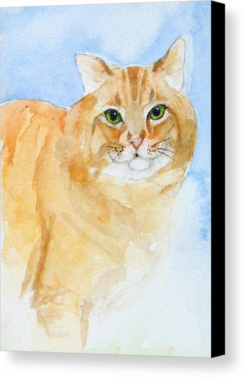 Feline Canvas Print featuring the painting Orange Taffy by Gina Hall