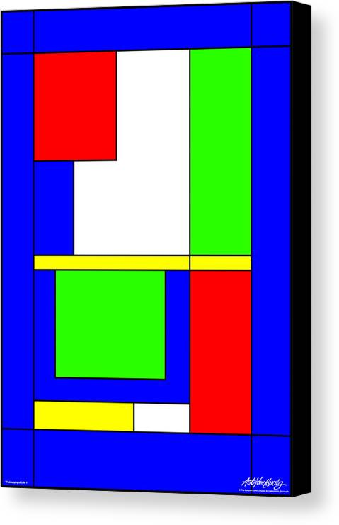 Philosophy Of Life Canvas Print featuring the digital art Philosophy Of Life I by Asbjorn Lonvig