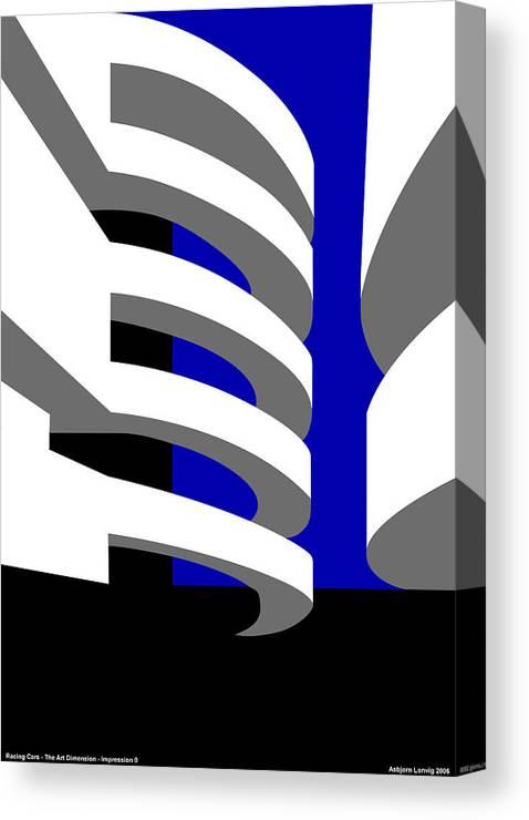 Aros Art Museum Canvas Print featuring the digital art Aros Art Museum by Asbjorn Lonvig