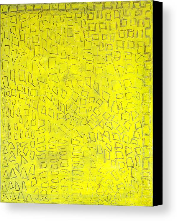 Abstract Golden City Yellow Signs Texts Hieroglyfs Alexander The Great Canvas Print featuring the painting Alexandria by Joan De Bot