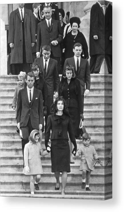 1960's Canvas Print featuring the photograph John F. Kennedy Funeral by Underwood Archives