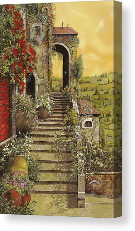 Arch Canvas Print featuring the painting La Scala Grande by Guido Borelli