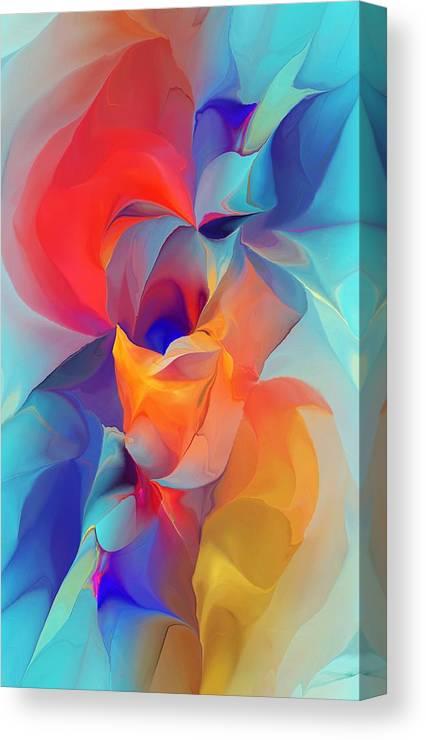 Fine Art Canvas Print featuring the digital art I Am So Glad by David Lane