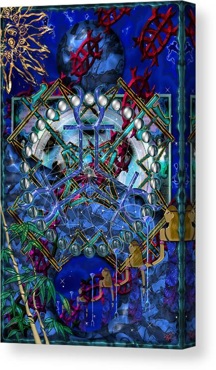 Symagery Canvas Print featuring the digital art Symagery 32 by Kenneth Armand Johnson