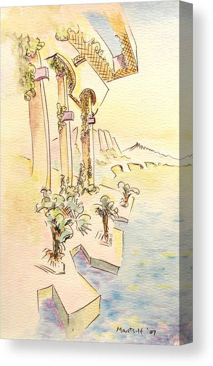 Italian Canvas Print featuring the painting Classic Summer Morning by Dave Martsolf
