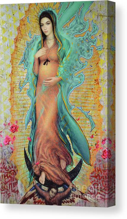 Mother Canvas Print featuring the painting Our Lady of Guadalupe by Smith Catholic Art
