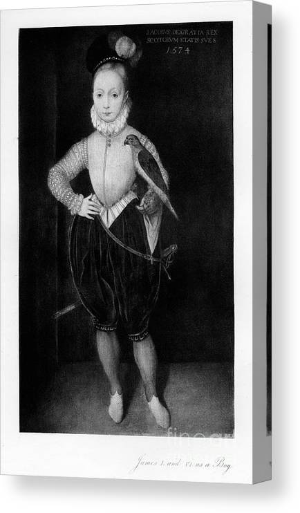 Engraving Canvas Print featuring the drawing James I As A Boy, 1907 by Print Collector