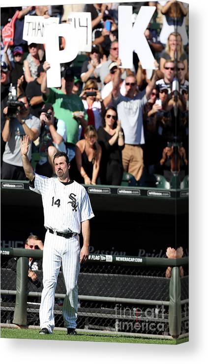 American League Baseball Canvas Print featuring the photograph Paul Konerko by Tasos Katopodis