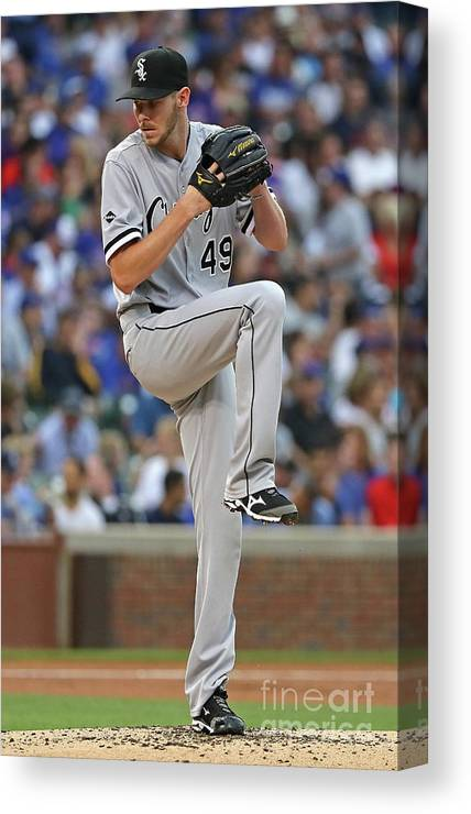 People Canvas Print featuring the photograph Chris Sale by Jonathan Daniel