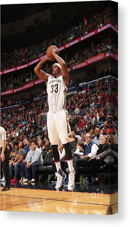 Smoothie King Center Canvas Print featuring the photograph Dante Cunningham by Layne Murdoch
