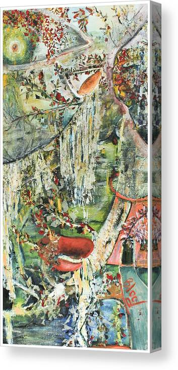 Landscape Canvas Print featuring the painting Island Wonder by Peggy Blood