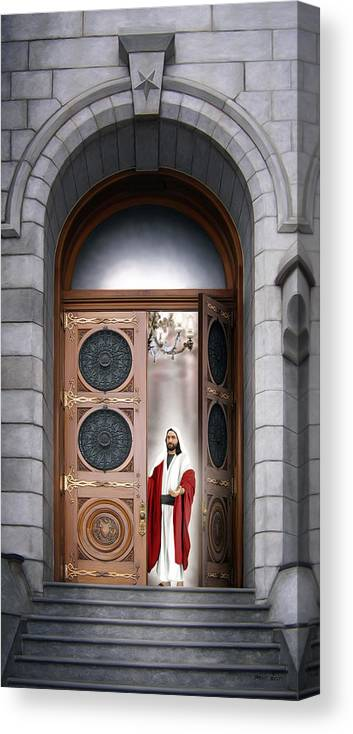 Jesus Canvas Print featuring the painting House of the Lord by Brent Borup