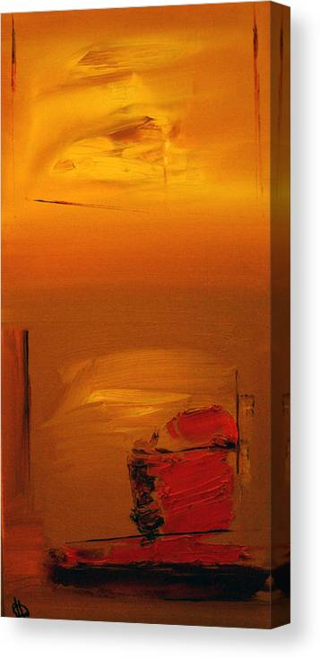 Abstract Canvas Print featuring the painting Contrasting Views by Stefan Fiedorowicz