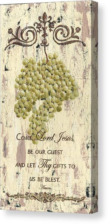 Grapes Canvas Print featuring the painting Grapes and Grace 1 by Debbie DeWitt