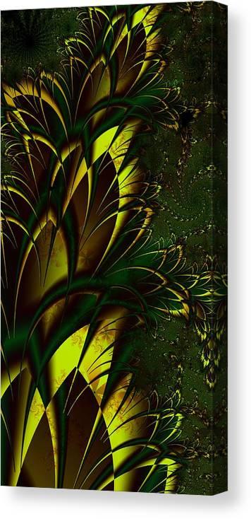 Digital Art Canvas Print featuring the digital art Summer Frenzy by Amanda Moore