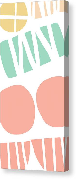 Abstract Canvas Print featuring the mixed media Bento 2- Abstract Shapes Art by Linda Woods