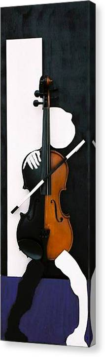 Violin Canvas Print featuring the sculpture Soul Of Music by Steve Karol