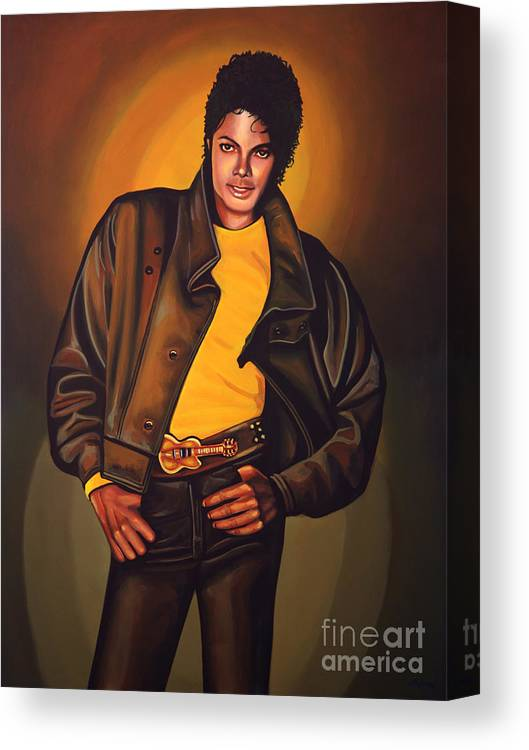 Michael Jackson Canvas Print featuring the painting Michael Jackson by Paul Meijering