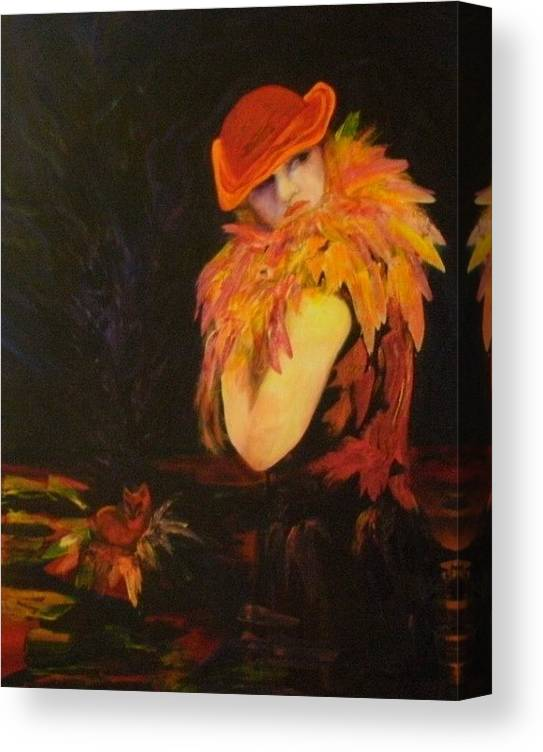 Women Canvas Print featuring the painting Cunning As A Fox by Carolyn LeGrand