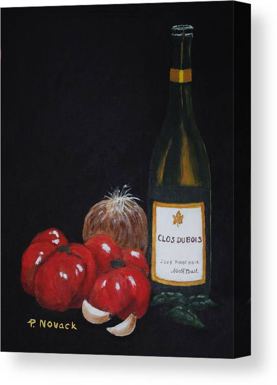 Wine Canvas Print featuring the painting Barb's Italian Sauce Mix by Patricia Novack