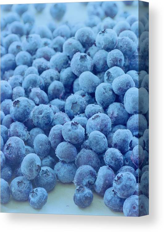 Berries Canvas Print featuring the photograph Blueberries by Romulo Yanes