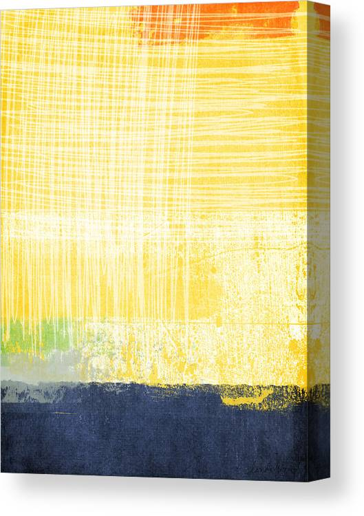 Abstract Painting Canvas Print featuring the painting Circadian by Linda Woods