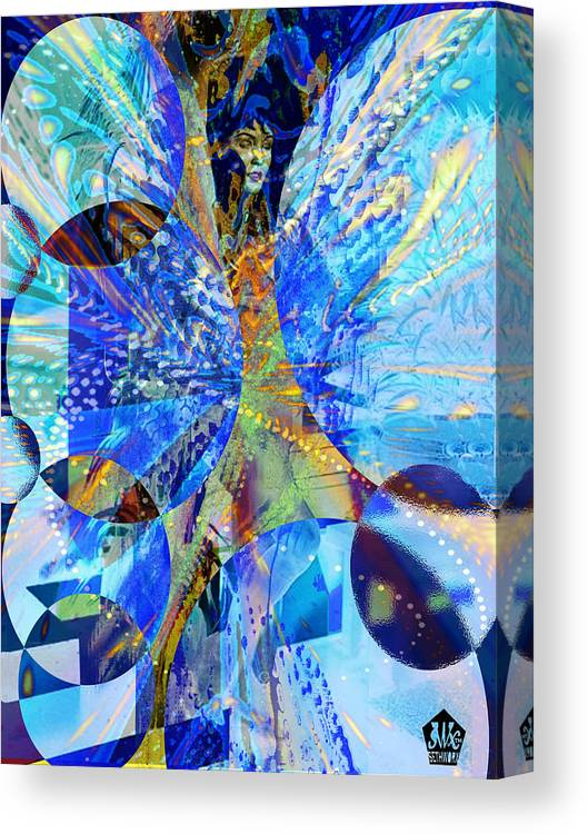 Crystal Blue Persuasion Canvas Print featuring the digital art Crystal Blue Persuasion by Seth Weaver