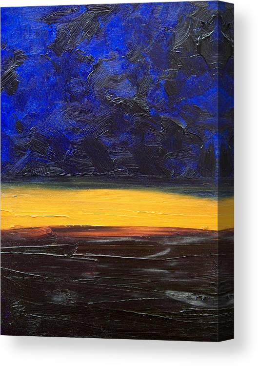 Landscape Canvas Print featuring the painting Desert plains by Sergey Bezhinets