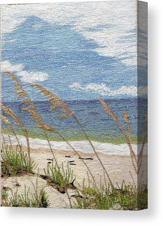 Fiber Canvas Print featuring the mixed media Dune by Jenny Williams