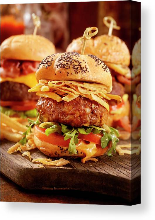 Stout Canvas Print featuring the photograph Gourmet Sliders by Lauripatterson