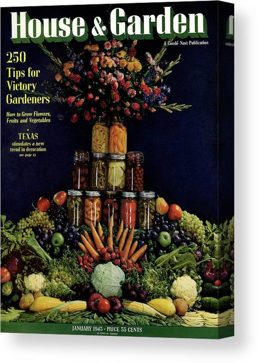 House And Garden Canvas Print featuring the photograph House And Garden Cover Featuring Fruit by Fredrich Baker