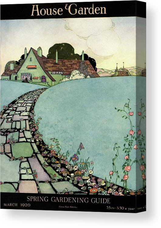 House And Garden Canvas Print featuring the photograph House And Garden Spring Garden Guide by Harry Richardson