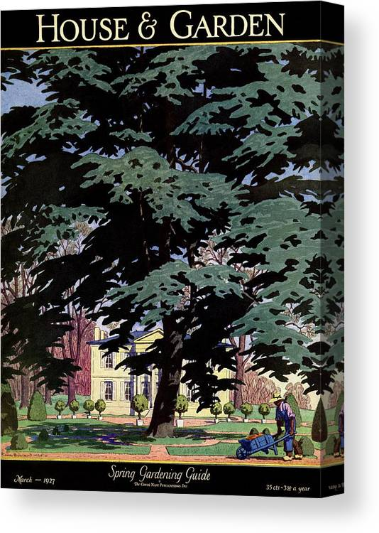 House And Garden Canvas Print featuring the photograph House And Garden Spring Gardening Guide Cover by Pierre Brissaud