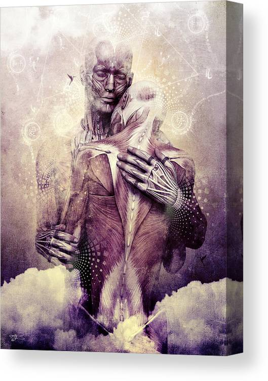Visionary Art Canvas Print featuring the digital art If Only The Sky Would Disappear by Cameron Gray