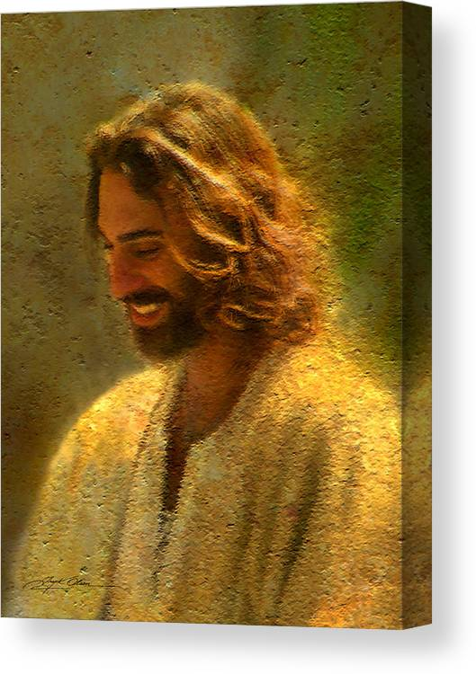 Jesus Canvas Print featuring the painting Joy of the Lord by Greg Olsen