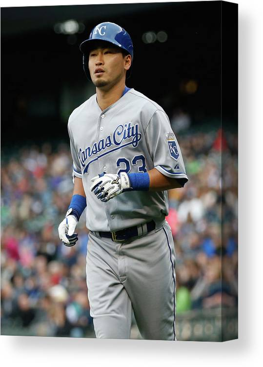 American League Baseball Canvas Print featuring the photograph Kansas City Royals V Seattle Mariners by Otto Greule Jr