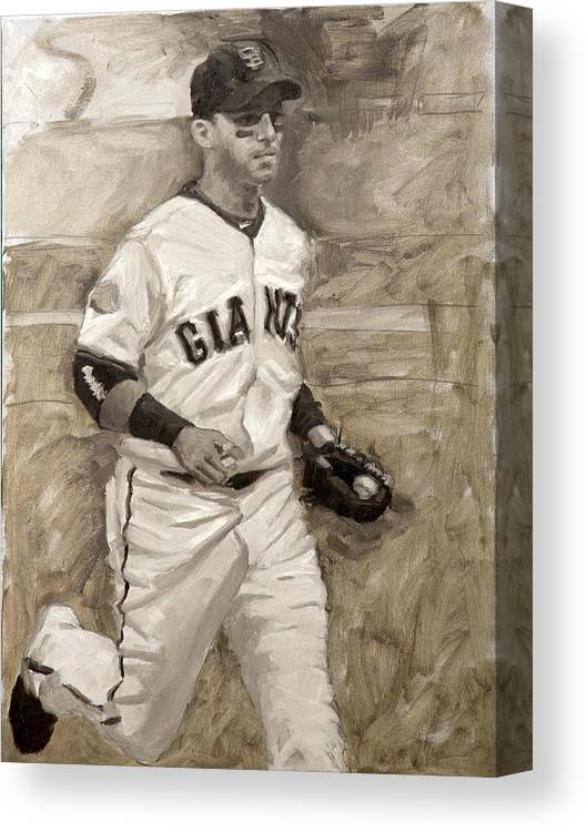 Marco Scutaro Canvas Print featuring the painting Marco Scutaro by Darren Kerr