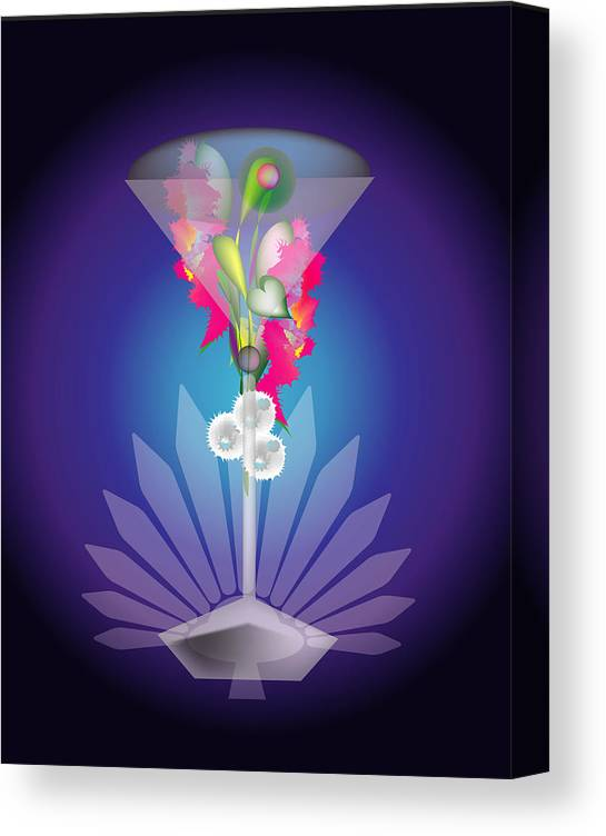 Martini Canvas Print featuring the digital art Martini Flower by George Pasini
