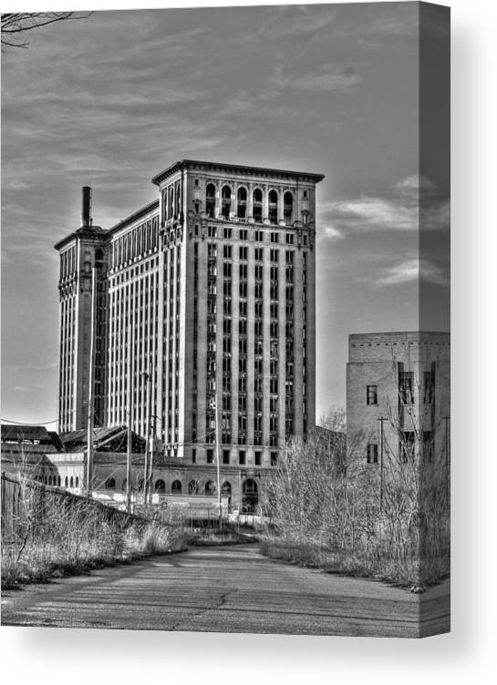 Michigan Central Canvas Print featuring the photograph Michigan Central Station by Nicholas Grunas